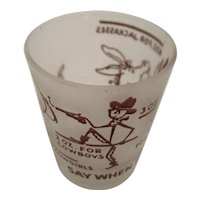 Say When Shot Glass by Federal Glass Western Theme