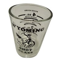 Wyoming Shot Glass By Libbey Glass 1oz. to 4oz.