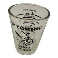Wyoming Shot Glass By Libbey Glass 1oz. to 4oz.