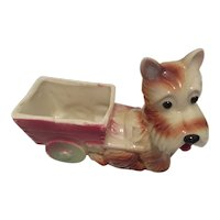 Vintage Scottie  Dog Planter or Desk  Organizer