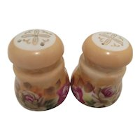 Vintage Rose Pattern Lefton Trade Mark Japan Salt and Pepper Shakers