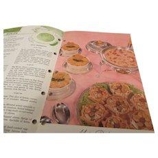 """Betty Crocker's """"Frankly Fancy"""" Foods Recipe Book 1959 General Mills"""