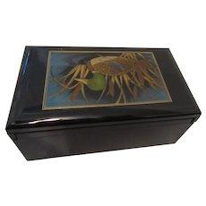 Golden Mallard Otagiri Lacquerware Music Box Japan