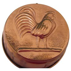 Copper Rooster Vintage Korean Jello Mold or Wall Plaque