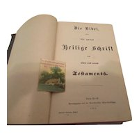 German Bible 1903 , Sunday school Card, 1948 County Fair Ribbon
