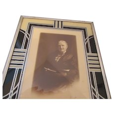 Art Deco Style Picture Frame with Framed Lady Subject