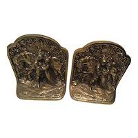 Hubley 313 Bronze Romeo and Juliet Bookend Set