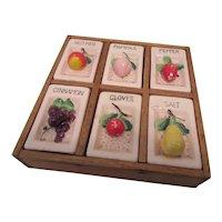 Six Shaker Vintage Spice Set For Wall-Japan