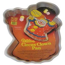 Wilton 1981 Birthday Circus Clown Cake Pan With Directions