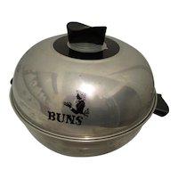 1960s West Bend Aluminum Bun Warmer