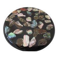 1960s Abalone Shell Resin Hot Dish Mat