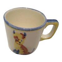 1950s Child's Mug with Dog-German