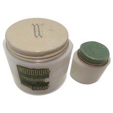 Milk Glass Vanity: Woodbury Cold Cream and Pond's Cream Jars