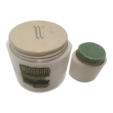 Milk Glass Vanity: Woodbury Cold Cream and Pond's Cream Jars