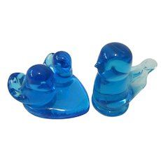 Leo Ward Bluebird of Happiness  Glass Ornaments