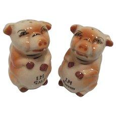 Vintage Pig Salt and Pepper Shakers- Japan