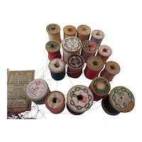 Vintage Sewing Thread, Bobbins, Sewing Machine Needles, and Threaders