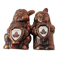 Indian Salt and Pepper Shakers Canada Made in Japan