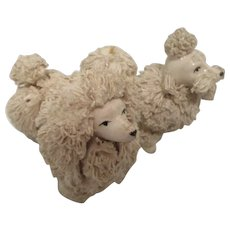 Japanese Retro Poodle Dogs Shelf Sitters