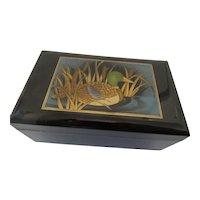 Golden Mallard Otagiri Lacquerware /Music Box Japan