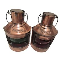 Port & Starboard Nautical Lanterns Copper