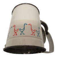 Retro Androck Made in U.S.A. Flour Sifter with Colorful Birds
