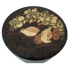 Japanese Lacquer Coaster Set by Otagiri 1970s