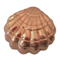 Vintage Copper Seashell Mold Made in Korea