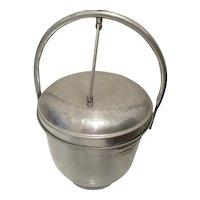 Gailstyln U.S.A. Hammered Aluminum Ice Bucket Mid Century