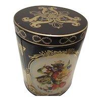 English Tea Tin by Daher Chintz Pattern-Daher