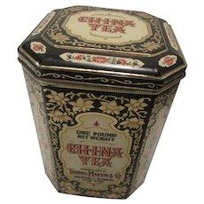Vintage Chintz Tea Tin from England by Thomas Martin & Co.