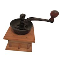 Vintage Wooden and Iron Coffee Grinder