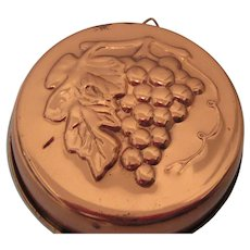 Copper Kitchen Wall Plaque with Grapes