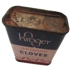 Kroger Ground Cloves Vintage Spice Tin