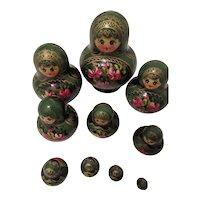 Matryoshka Russian Nesting Doll Set of 10