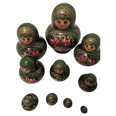 Matryoshka Russian Nesting Doll Set of 10