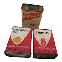 Frank's & French's Vintage Spice Tins U.S.A.
