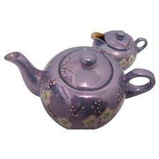 Sakura Japanese Lustreware Teapot and Creamer