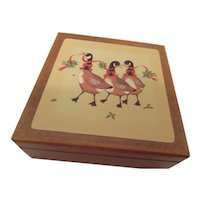 Holiday Coaster set with Geese Decorated