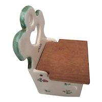 "Vintage German Salt Box for Kitchen ""Salz"""