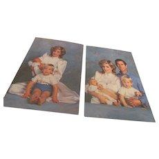 1984 Postcards Prince Charles, Princess Diana, Prince Harry & Prince William