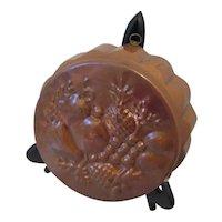 Vintage Copper Mold with Brass Hook & Fruit