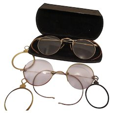 Vintage Eye Glasses and Eye Lenses