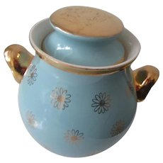 Hall's Turquoise & Gold Cookie Jar