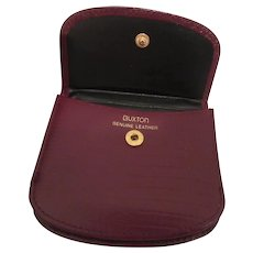 Buxton Leather Coin Purse/ Wallet