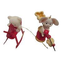 Hallmark Mouse Ornament & Rocking Horse ROC Taiwan