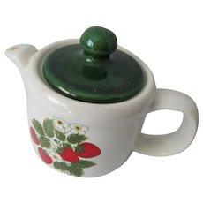 Vintage Strawberry Kitchen Teapot