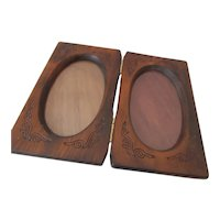 vintage  Wooden Picture Frame for Two Photos
