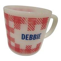 """Westfield """"Debbie"""" Plaid Kitchen Mug"""