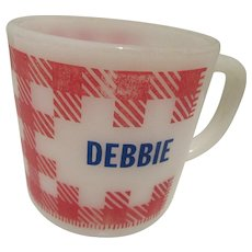 "Westfield ""Debbie"" Plaid Kitchen Mug"